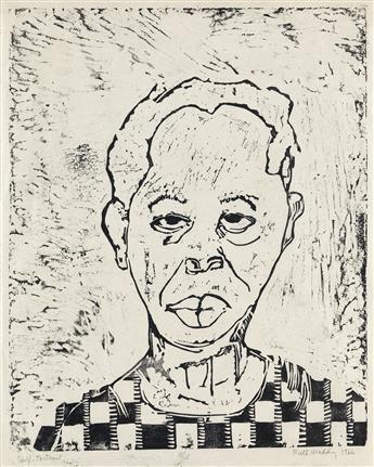 RUTH WADDY (1909 - 2003) Self-Portrait.