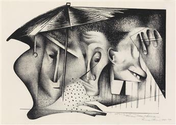 NORMAN LEWIS (1909 - 1979) Untitled (Umbrella).