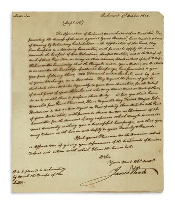 (WAR OF 1812.) Group of 4 items relating to the war.