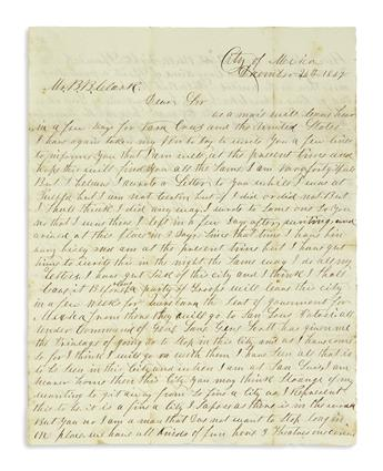 (MEXICAN WAR.) Group of 6 Mexican War letters.