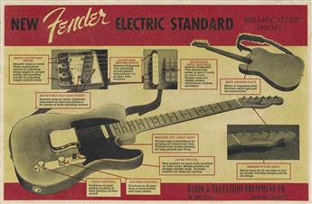 DESIGNER UNKNOWN. NEW FENDER ELECTRIC STANDARD / BROADCASTER MODEL. 1950. 11x16 inches, 28x42 cm.