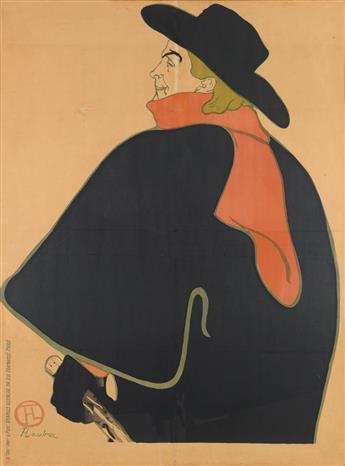 HENRI DE TOULOUSE-LAUTREC (1864-1901). [ARISTIDE BRUANT DANS SON CABARET.] 1893. 53x38 inches, 134x96 cm. Charles Verneau, Paris.