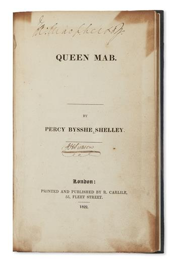 SHELLEY, PERCY BYSSHE. Queen Mab.
