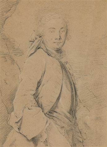 FRENCH SCHOOL, 18TH CENTURY A Half Figure Study of a Man.
