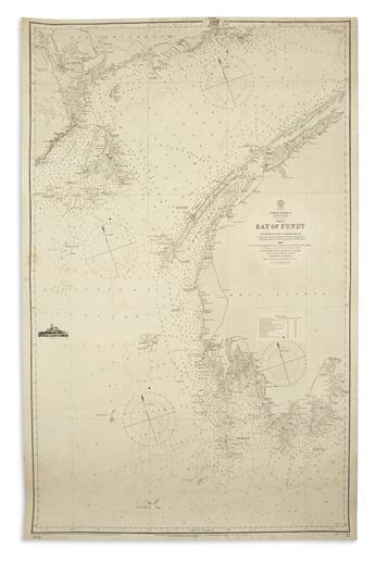 (BAY OF FUNDY.) British Hydrographic Office. North America East Coast Sheet 1, Bay of Fundy.