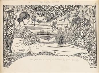 LOUIS RHEAD. The Elfin Grove / She gave her a ring in the token of friendship.