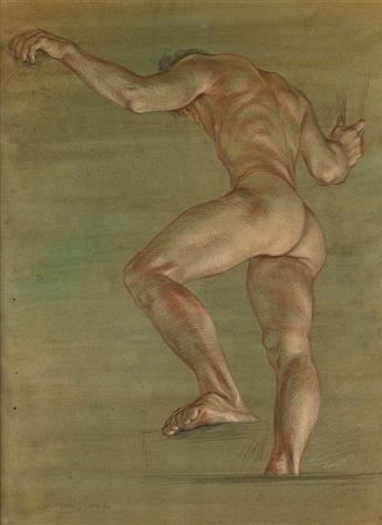 PAUL CADMUS Male Nude Climbing (NM 40).