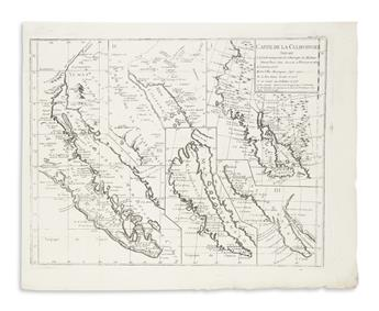 (CALIFORNIA AS AN ISLAND.) Group of 10 engraved maps showing the famous cartographic misconception.