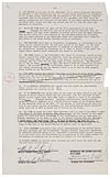 KING, MARTIN LUTHER. Typed Document Signed, Martin L. King Jr.,