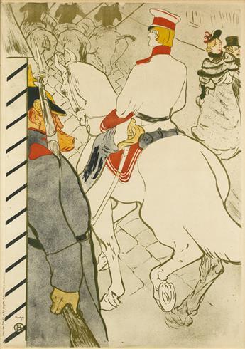 HENRI DE TOULOUSE-LAUTREC (1864-1901). [BABYLONE DALLEMAGNE.] 1894. 47x33 inches, 120x85 cm. Chaix, Paris.