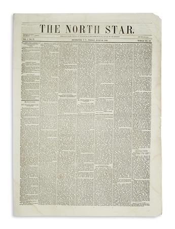 (DOUGLASS, FREDERICK.) The North Star, volume I, issue 27.