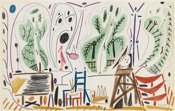 (PICASSO, PABLO.) Boudaille, Georges. Picassos Sketchbook: A Limited Edition in Facsimile.