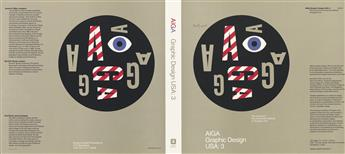 PAUL RAND (1914-1996). AIGA GRAPHIC DESIGN USA: 3. Unused dust jacket. 1981. 12x27 inches, 30x68 cm.