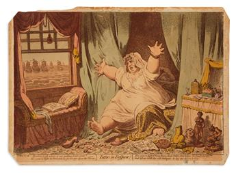 GILLRAY, JAMES. Dido in Despair.