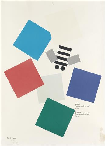 PAUL RAND (1914-1996). TOKYO COMMUNICATION ARTS. 1991. 35x25 inches, 90x64 cm.
