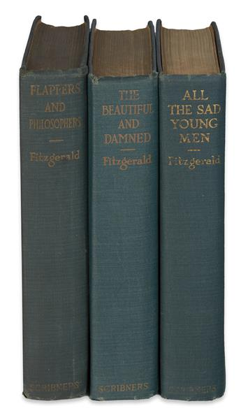 FITZGERALD, F. SCOTT. Group of 3 First Editions.