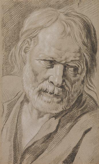 JAN ANTON GAREMYN (Bruges 1712-1799 Bruges) A Head and Shoulders Study of an Older Man.