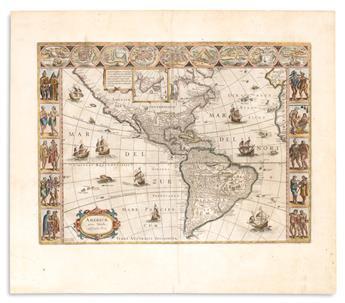(AMERICAS.) Blaeu, Willem. Americae nova Tabula.