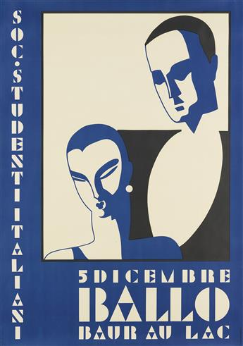 DESIGNER UNKNOWN. BALLO / BAUR AU LAC. 1932. 50x35 inches, 127x90 cm. J.C. Muller, Zurich.
