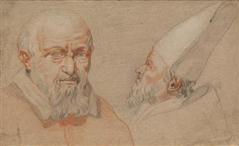 ITALIAN SCHOOL, 17TH CENTURY Portrait Studies of a Bishop.