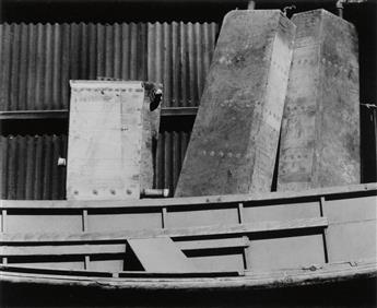 WESTON, EDWARD (1886-1958) Shipyard detail, Wilmington.