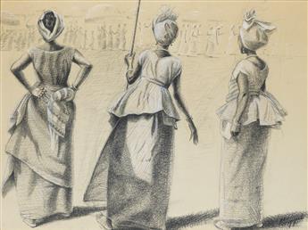 JOHN BIGGERS (1924 - 2001) Ghanian Women.
