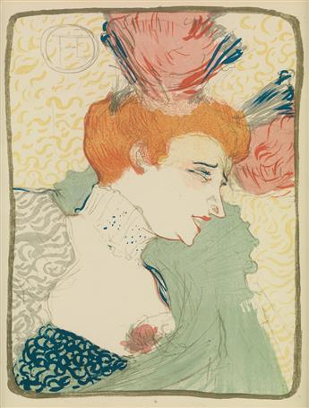 HENRI DE TOULOUSE-LAUTREC (1864-1901). [MADEMOISELLE MARCELLE LENDER, EN BUSTE.] 1895. 13x10 inches, 34x26 cm.