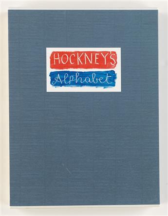 HOCKNEY, DAVID. Hockneys Alphabet.