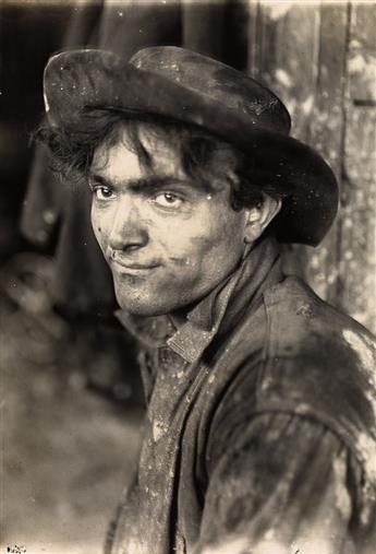 LEWIS W. HINE (1874-1940) Italian steel-worker, Pittsburgh.
