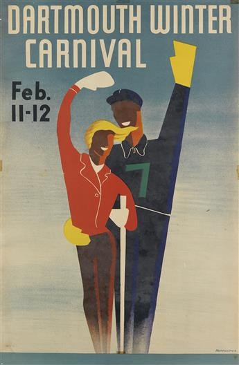 ARMSHEIMER (DATES UNKNOWN) & T.N. JOANETHIS (1916-2011). DARTMOUTH WINTER CARNIVAL. Two posters. 1938. Each approximately 34x22 inches,