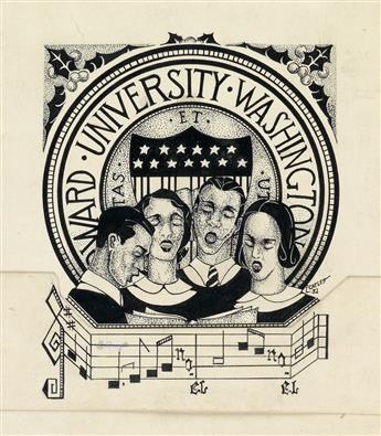 ELIZABETH CATLETT (1915 - 2012) Howard University Choir.