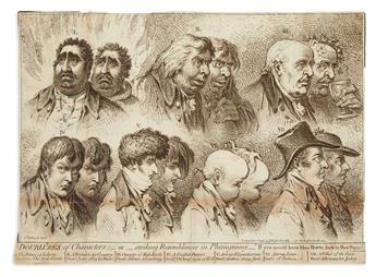 GILLRAY, JAMES. Doublures of Characters;__or__Striking Resemblances in Phisiognomy.