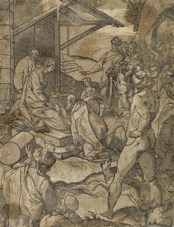 ANDREA ANDREANI (after Raffaellino da Reggio) The Adoration of the Magi