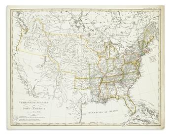 (AMERICA.) Stieler, Adolf; Reichard, Christian Gottlieb; and others. Group of 7 engraved maps of the Americas and United States