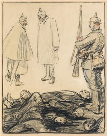 LOUIS RAEMAEKERS. Ca nest rien Majeste sentiment - quelques belges ayant refusis denroler . . .