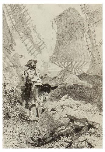 CERVANTES SAAVEDRA, MIGUEL DE. Two editions of Don Quixote.