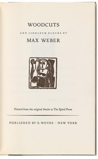 WEBER, MAX. Woodcuts and Linoleum Blocks.