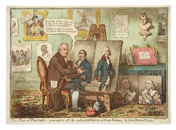 GILLRAY, JAMES. Two Pair of Portraits;__Presented to all the Unbiased Electors of Great Britain, by John Horne Tooke.