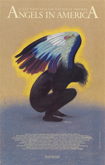 MILTON GLASER (1929- )  Angels in America.