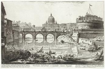 GIOVANNI B. PIRANESI Veduta del Ponte e Castello Sant'Angelo.