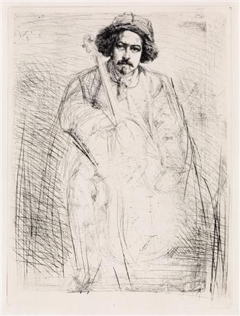 JAMES A. M. WHISTLER J. Becquet, Sculptor.
