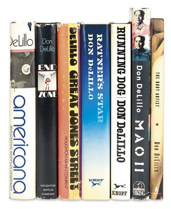 DELILLO, DON. Group of 7 Signed First Editions.