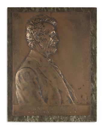 (SCULPTURE.) Brenner, Victor D. Abraham Lincoln, 1809-1865.