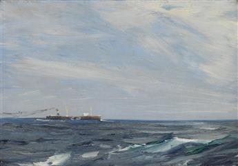 CHARLES HERBERT WOODBURY Tank Steamer at Sea.