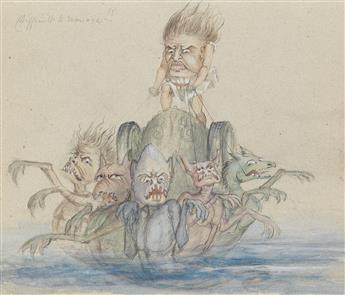 REV. GEORGE LIDDELL JOHNSTON. (CARICATURE) Grotesques.