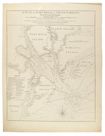 FADEN, WILLIAM; and JEFFERYS, THOMAS. A Plan of Port Royal in South Carolina.