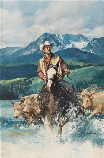 VICTOR OLSON. Herding the Cattle.