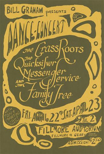 VARIOUS ARTISTS. [PSYCHEDELIC ROCK CONCERTS.] Group of 10 posters. 1966. Sizes vary.