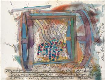 DENNIS OPPENHEIM Study for Rolling Explosion Project.