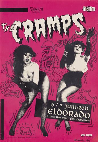 KEITH HARING (1958-1990)  The Cramps / Eldorado.